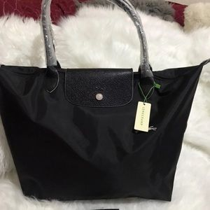 NWT.  Longchamp Le Pliage Club LARGE BLACK SB